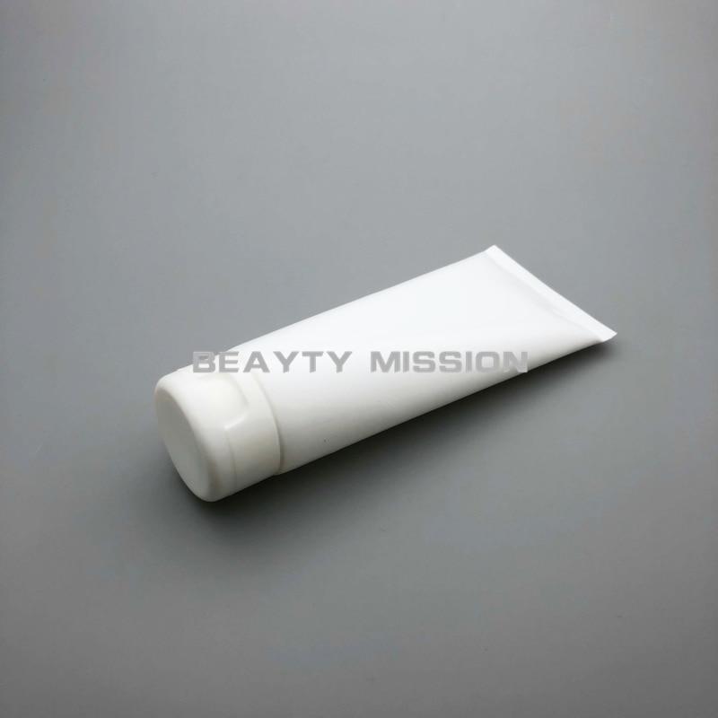 BEAUTY MISSION 200g 30pcs lot white empty soft tube 200ml DIY plastic empty Facial Cleanser tubes