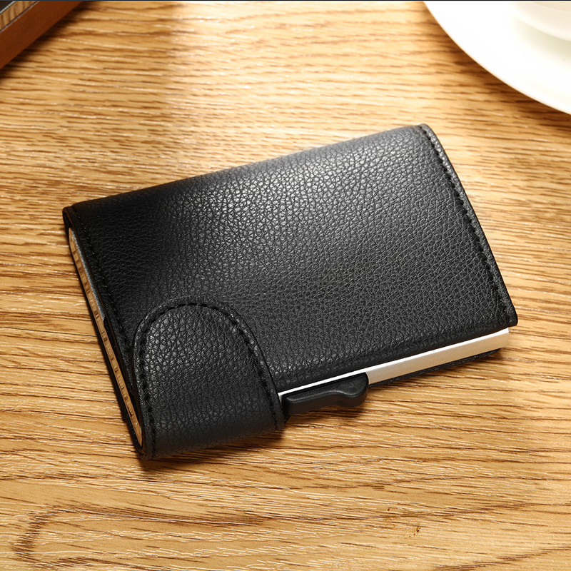 9b83ed50713c US $11.99 45% OFF|Bycobecy RFID Metal Wallet Antitheft Wallet Card Case  Aluminium Credit Card Case 2019 New style Unisex Business Card Holder-in  Card ...