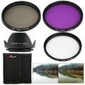 UV CPL FLD Filter + Lens Hood 58mm for Canon 7D 100D 600D 700D 1100D 1200D LF136