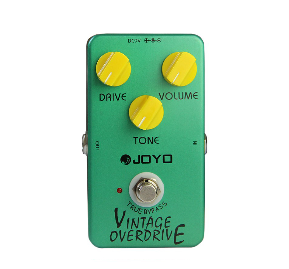 JOYO JF-01 Vintage Overdrive Guitar Effect Pedal with Delay Effect True Bypass Guitar Pedal Guitar Accessories joyo jf 16 bypass design brithish sound guitar effect amplifier simulator pedal purple
