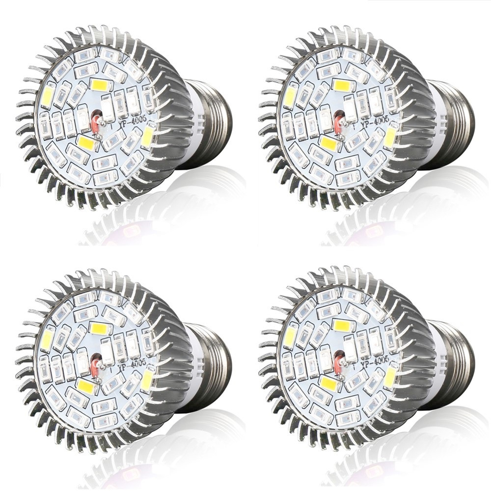 (4/Pack) E27 28W LED Grow Light Full Spectrum Plant Lamp For Flower Hydroponics System Indoor Garden Greenhouse