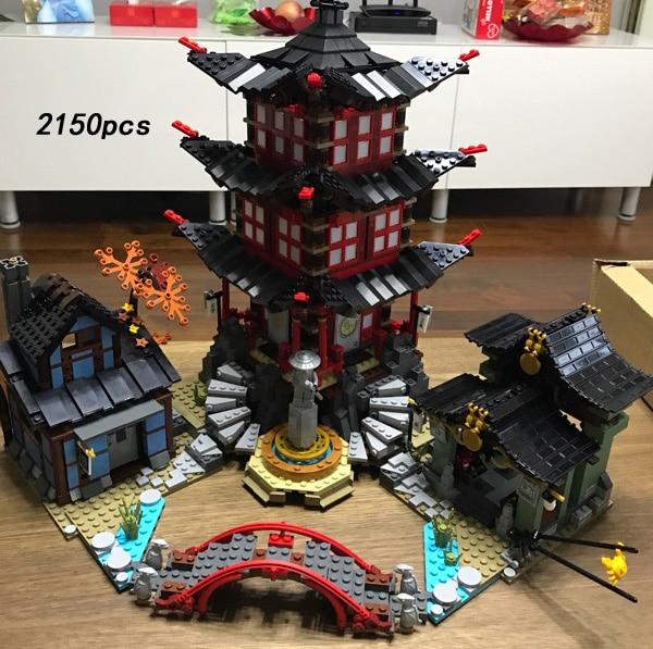 Hot ninja Temple of Airjitzu go Building Block model Lloyd Kai Zane Cole Jay Nya Wu figures brick 70751 toys for children gifts 2017 new single ninja movie nadakhan dogshank kai jay cole zane nya lloyd building brick toys x0112 x0118