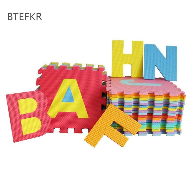26 pcs set Kids Letters Mat Puzzle Toys for Children Eva Foam Baby Play Mat Educational