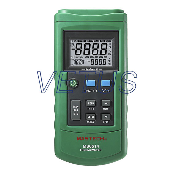 MS6514 Dual-Channel input usb thermometer temperature recorder