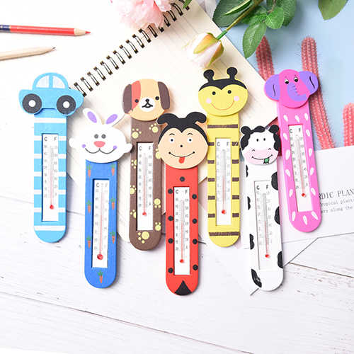 Cartoon indoor outdoor Temperature Thermometer Waterproof Soft Tip Medicine Home Temperature home office