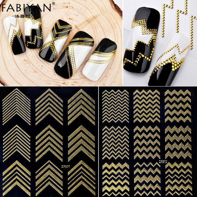 Nail Art Stickers Decoration Metal Line Striping Tape Transfer Foils Laser Self-Adhesive Design DIY 3D Tips Decal Manicure Tools