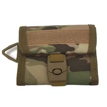 Outdoor Tactical Wallet Waterproof 600D Nylon Army Multifunction Sports Purse Molle Card Pocket Key Hanging Bag