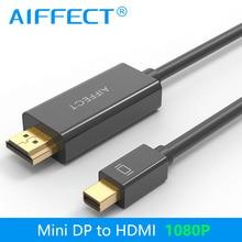 AIFFECT Mini DP to HDMI Cable DisplayPort Thunderbolt Port HDMI 1080P for Macbook Pro Air Projector Camera TV Support 3D 4888