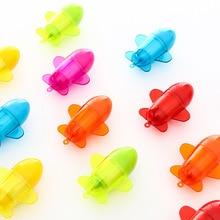 1pc Cute Retractable Ballpoint Pen 0.5mm Airplane Model Kids Novelty Gift Prize Blue Ink Writing Kawaii School Supplies