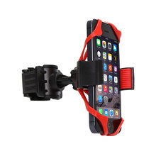 Bicycle Phone Holder Universal 360 Degree Swivel Stable Mobile Cell Phone Holder Bike Handlebar Clip Stand GPS Mount Bracket