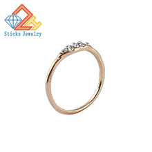 (1pieces / lot) 100% Environmentally Friendly Material Alloy Gold Ring