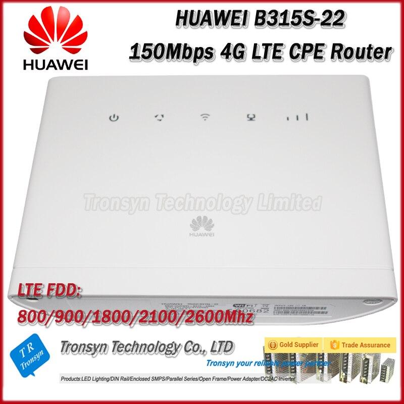 Déverrouillage d'origine 150 Mbps HUAWEI B315 B315S-22 4G LTE routeur avec emplacement pour carte Sim et Port LAN RJ11