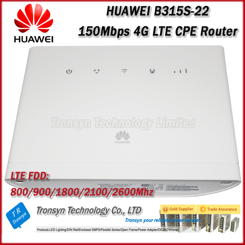 где купить Original Unlock 150Mbps HUAWEI B315 B315S-22 4G LTE Router With Sim Card Slot And LAN RJ11 Port дешево