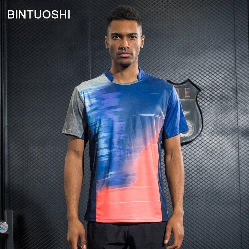 Bintuoshi Herren Badminton T-shirts Tischtennis Trikots Atmungs Tennis Kleidung Sport Sportlich T-shirt Schnell Trocknend Shirts Duftendes (In) Aroma