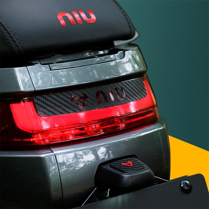 KODASKIN Motorcycle 3D Carbon Fiber Electric Car Brake Light Sticker For NIU M1