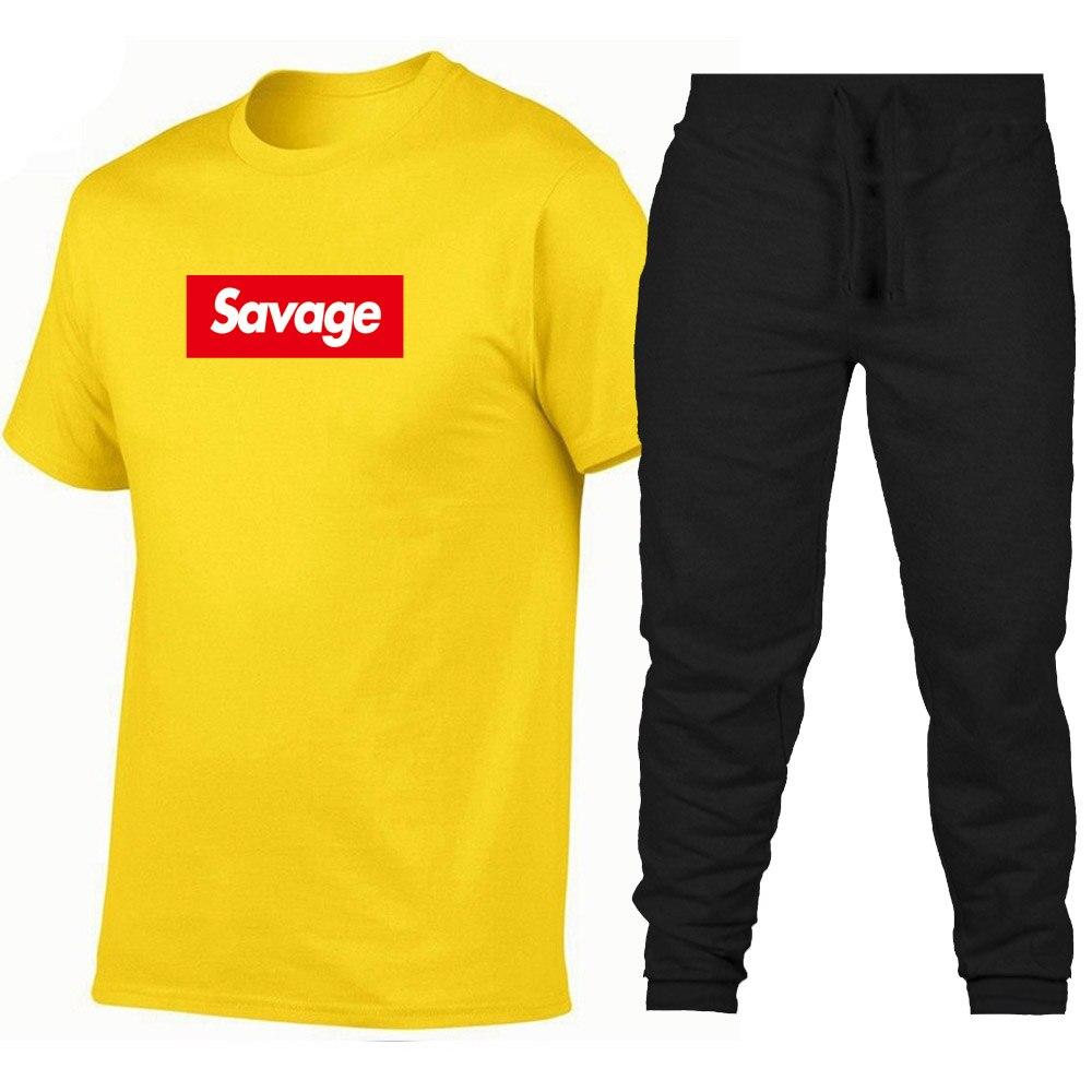 2019 Mens suprem t shirts Savage T Shirt Parody No Heart X Savage Mode Slaughter Gang ATL 100% Cotton short sleeved t-shirt Футболка