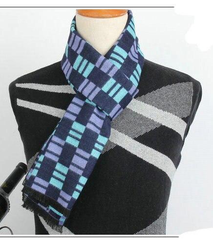 Люксового бренда мужчин шарф зимой 2015 года реального кашемир и искусственный шерстяной шарф мужчины из шарфы для рождественский подарок