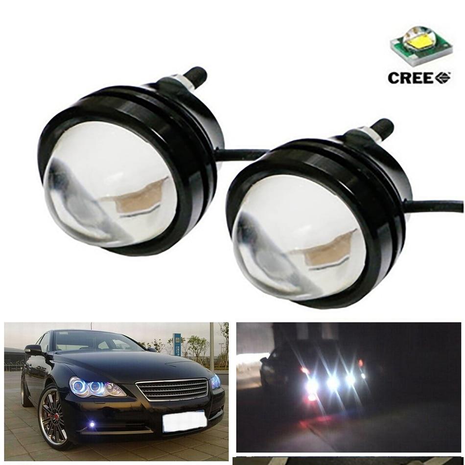 LEADTOPS 1X 15W 12V Super Bright LED Light Eagle Eye Daytime Running Light DRL Lights Waterproof Parking DC 12V For Audi Vw ae