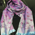 180*70CM Fashion Brand Autumn Winter High-quality Soft and Bright Thailand Elephant Jacquard Scarf Shawl Women Wraps JA9014