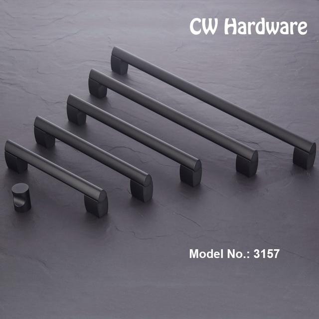 CW Hardware DECFAB 2pcs 3157 128 160 192 256 320 American Furniture Black Wardrobe Pulls Cabinet Cupboard Door Handles Pulls