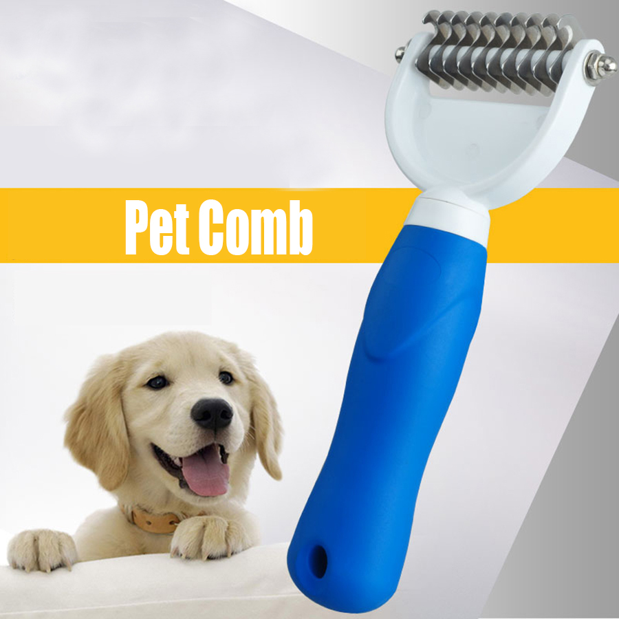 Hair Brush Dog Comb Grooming Steel Stainless Dogs Pet Massage Brush Accessories Mascotas Trimming Tools Animals Supplies 70Z1394