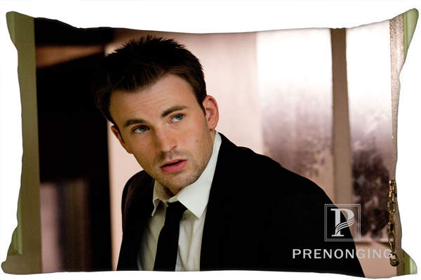 Best Custom Pillow Case Chris Evans Rectangle Pillowcases zipper 35x45cm (One Side Print) @180117-163
