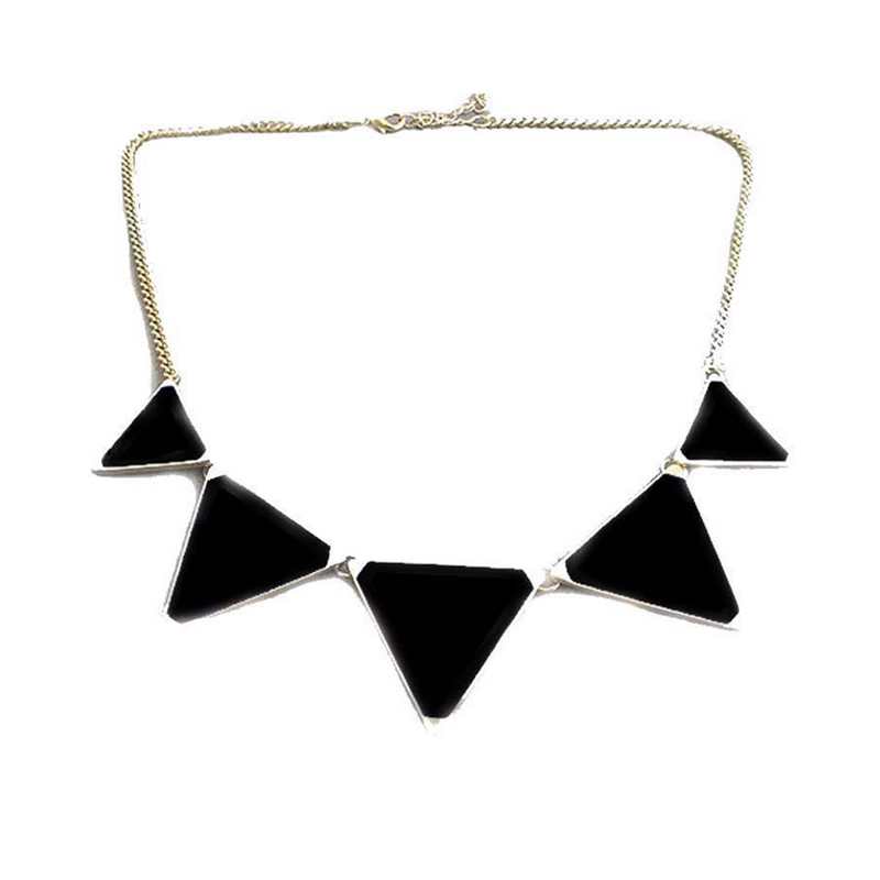 2016 Christmas Gifts Statement Maxi Necklace Chunky Necklaces & Pendants Triangles Necklaces Choker online shopping india