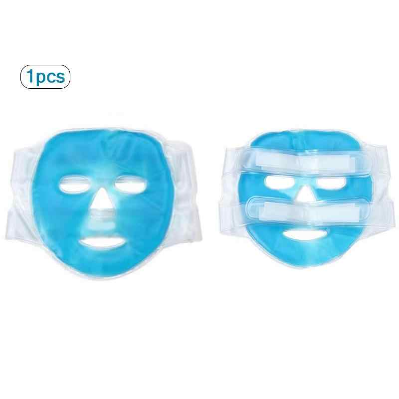 Gel Dingin Masker Wajah Kompres Es Biru Wajah Penuh Pendingin Masker Kelelahan Relief Relaksasi Pad dengan Dingin Pack Wajah Perawatan