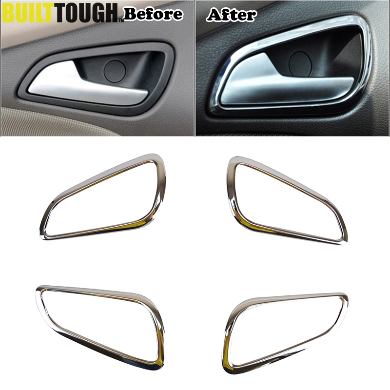 Chrome Interior Door Handle Cover Fit For Ford Focus Mk3