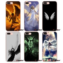 Angels 3D Art Print Poster Clear TPU Case For Huawei G7 G8 P7 P8 P9 Lite Honor 4C 5X 5C 6X Mate 7 8 9 Y3 Y5 Y6 II 2 Pro 2017(China)