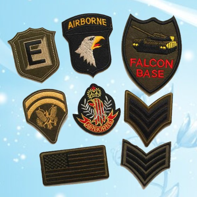 8pcs lot Eagle Tank USA Airborne Force Embroiedry Patches for Army Jeans  Jacket Bag Hat Iron on Applique patch Vest sticker 67f516c372c
