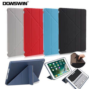 DOWSWIN Case For New iPad 9.7 2018 Smart Cover For iPad 2018 Case PU Leather TPU Soft Back Cover For iPad 9.7 Inch A1822 A1893