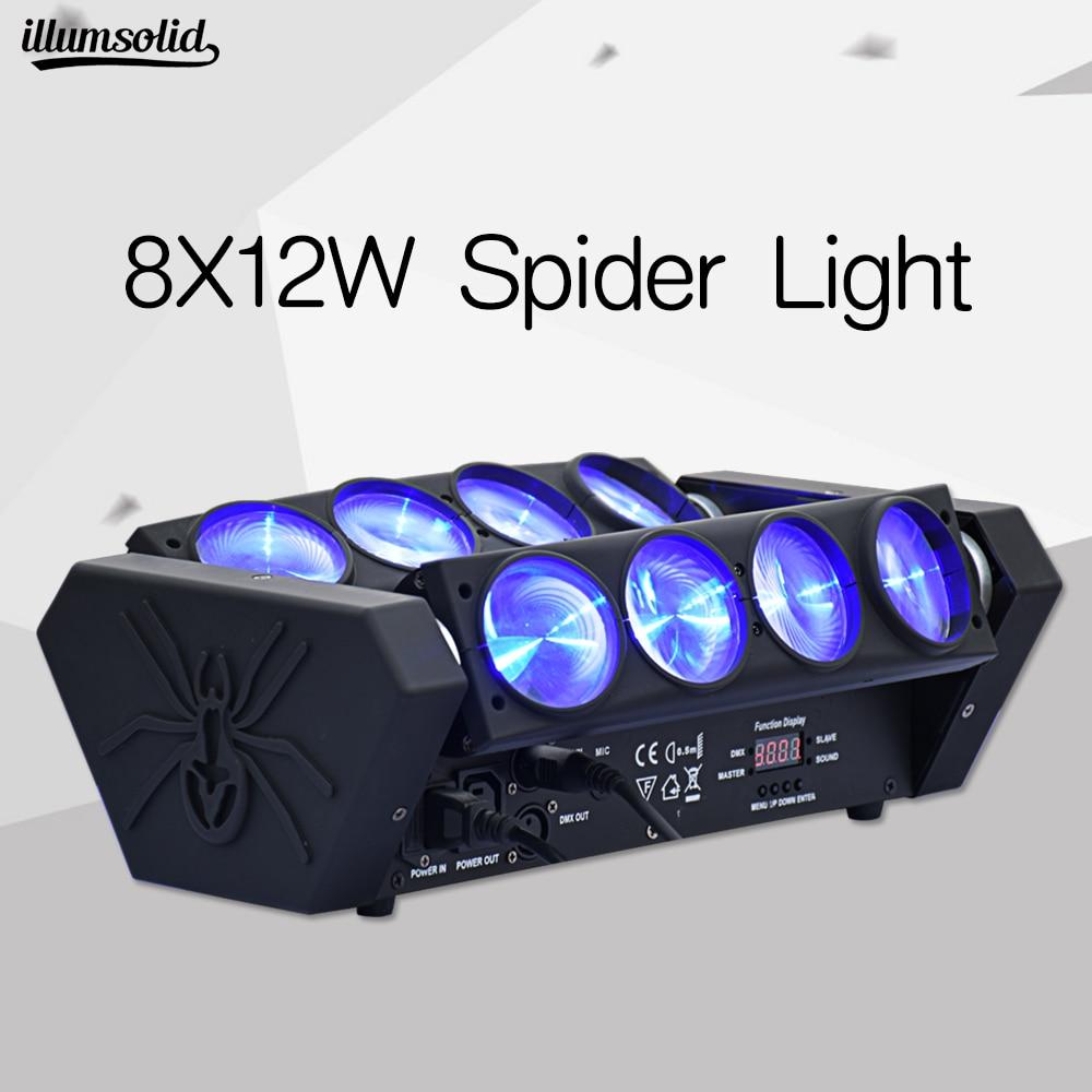 8x12w rotatif LED orientable effet de scène lampe araignée lumière de faisceau de scène pour Disco