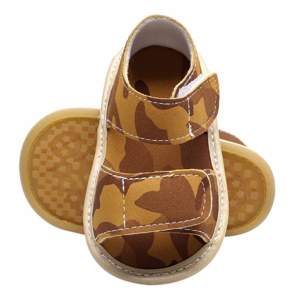 Camouflage Newborn Baby GirlSummer Newborn Casual Baby Girl Children PU First Walker Shoes