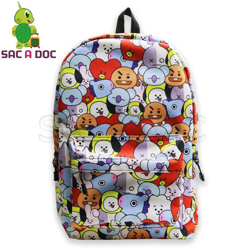 Kpop Bts Backpack Cartoon Character Bt 21 Overlay School Bags For Teenage Boys Girls Daily Backpack Bangtan Boys Travel Rucksack