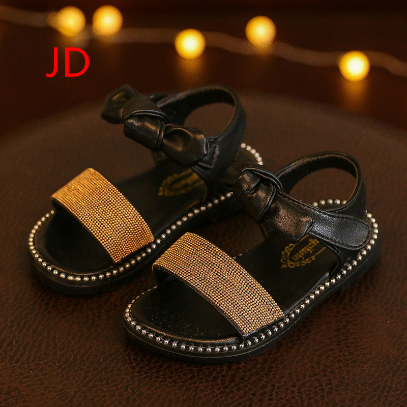Girl Leisure Time Sandals 2018 Spring Summer Soft Baby Children Kids Boys Bow Princess Shoes Tide New
