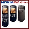 Original nokia 8800 sirocco 128 mb teléfonos inglés/teclado ruso gsm fm bluetooth del teléfono de oro plata negro garantía de un año