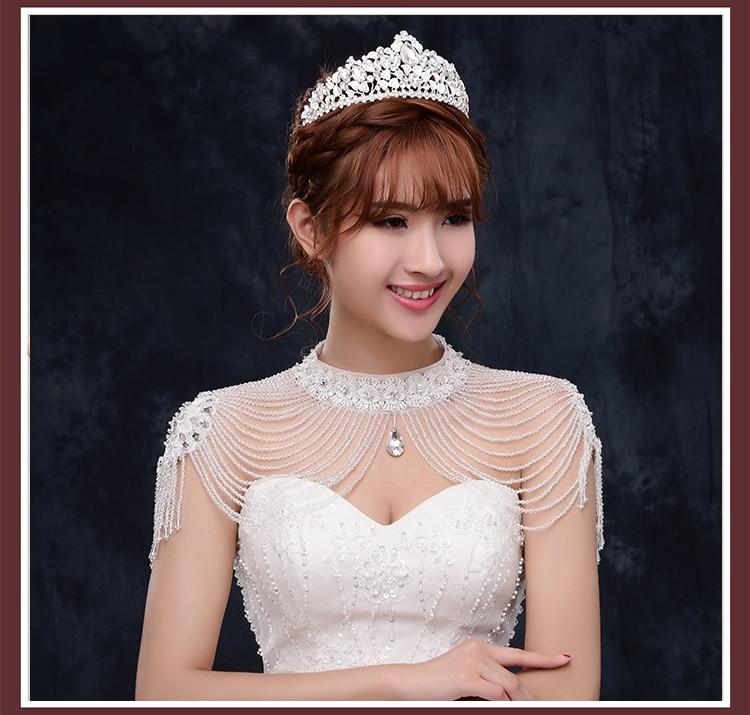Chic White Red Wedding Bolero Beaded Luxury Crystals Wedding Wrap Wedding Accessories Bling Evening Dress Bolero