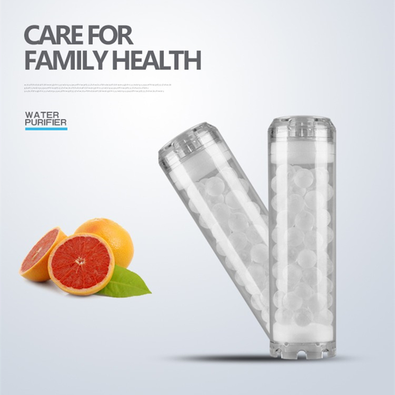 High Efficiency Antiscalant Siliphos Crystal Filter Cartridge 10 Inches Clear Silicon Phosphorus Crystal Water Filter