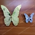 Hole Distance 96mm Silver Butterfly Zinc Chroming Brass Plating Dresser Handles Cabinet Knobs Kitchen Pulls Cartoon Butterfly