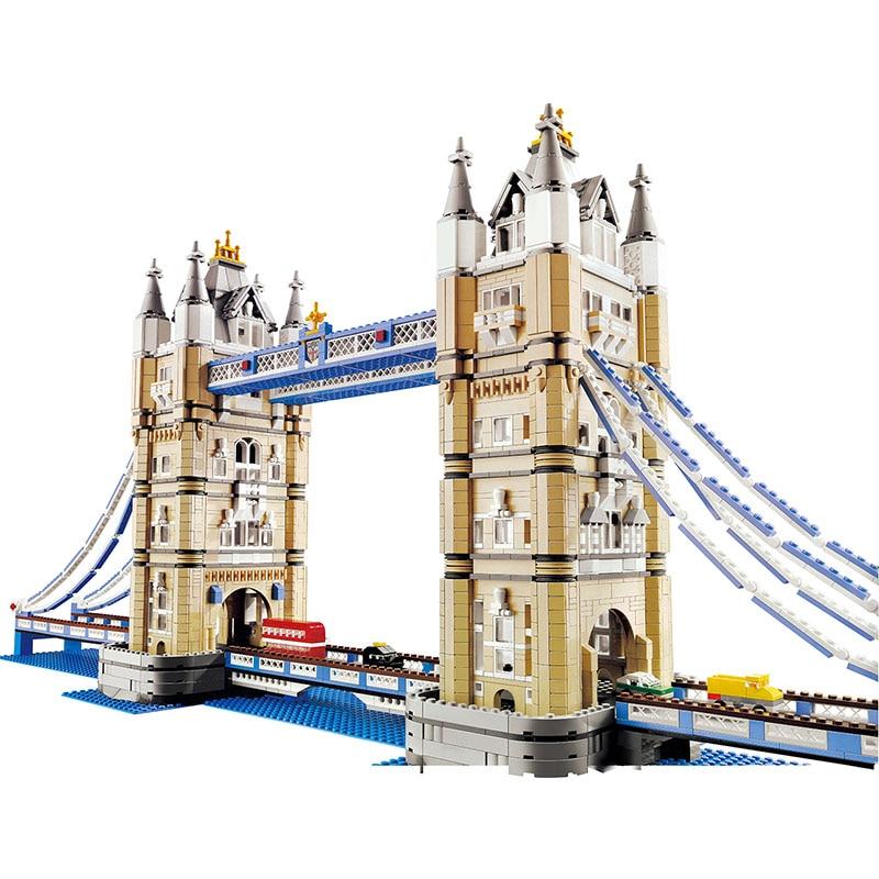 4259pcs Large Building Block World Famous Architecture London Tower Bridge Compatible LegoINGLYS City Creator Technic Toys new mini diamond building block world famous places architecture 3d russia saint basil s cathedral model nanoblock for kid gift