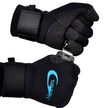 スキューバダイビング 3 ミリメートルケブラーダイビング手袋水中狩猟ノンスリップスピアフィッシング機器調整可能な黒手袋 YQ33