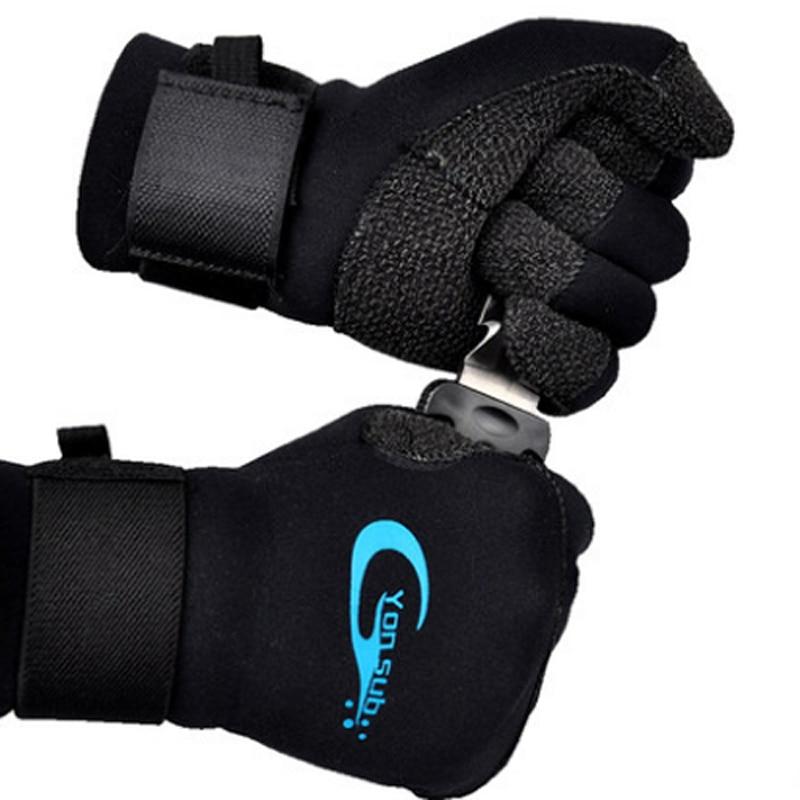 YONSUB Scuba 3MM Kevlar Diving Gloves For Underwater Hunting Non-slip Spearfishing Equipment Adjustable Velcro