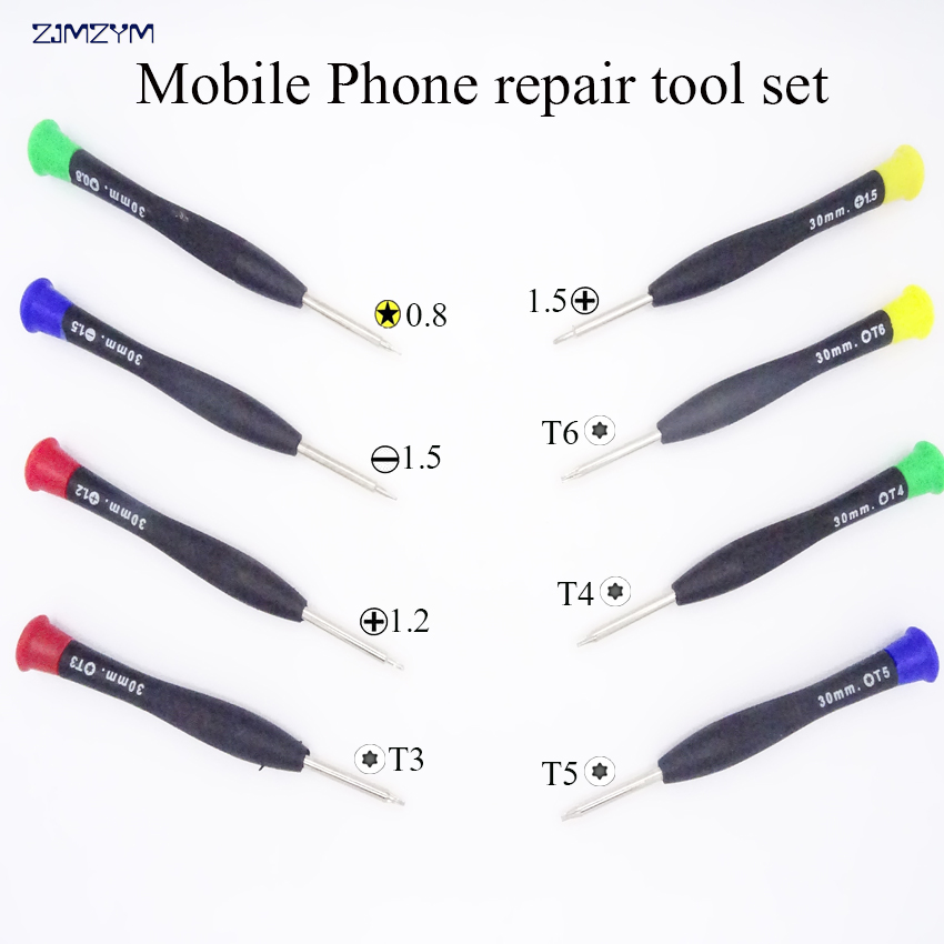 Hot sale 8pcs/set multifunction screwdriver set 0.8MM/1.2MM/1.5MM/T3/T4/T5/T6 Disassemble tool for iphone or electronic product