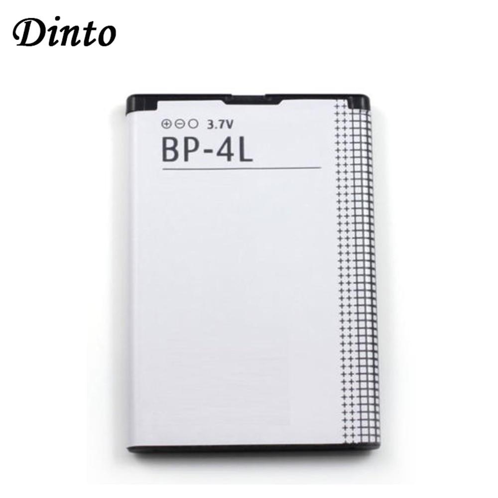 Dinto 1pc 1500mAh BP-4L BP4L BP 4L Li-ion Lithium Rechargeable Phone Battery For Nokia E61i E63 E90 N810 E72 E52 E71 6650F
