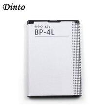 Dinto bateria recarregável de lítio 1 peça, bateria de celular 1500mah BP 4L bp4l bp 4l li ion para nokia e61i e63 e90 n810 e72 e52 e71 6650f