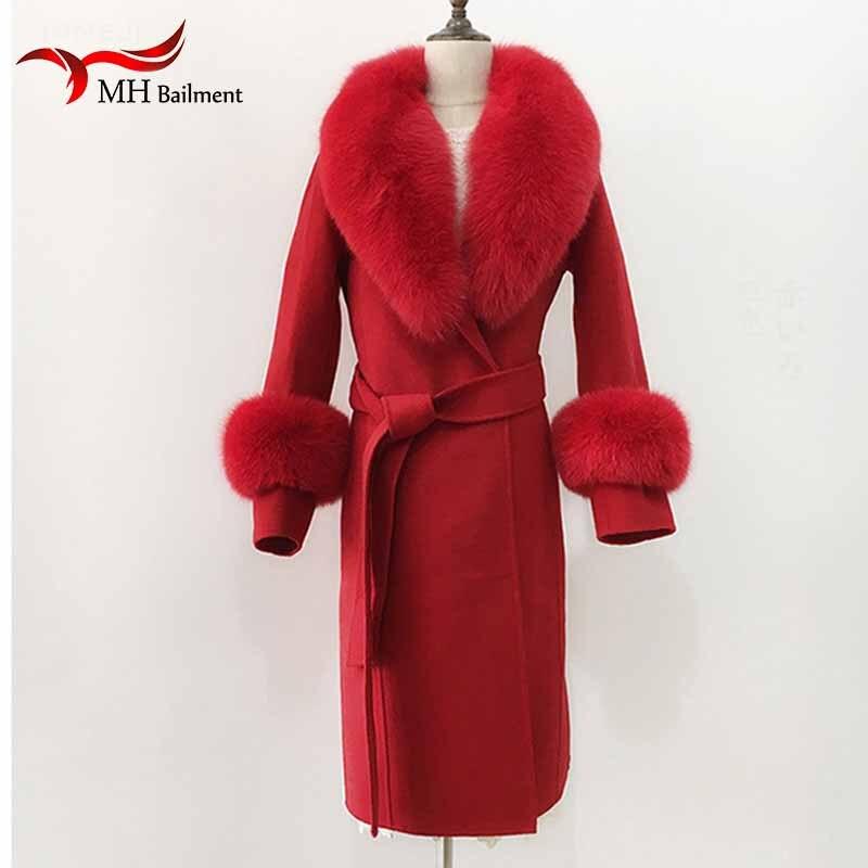 Women's Scarves And Scarves Fur Scarf Jacket Fur Collar Winter Neck Scarves +Cuff Luxury Fox Fur Winter Warm Neck Warmers L2