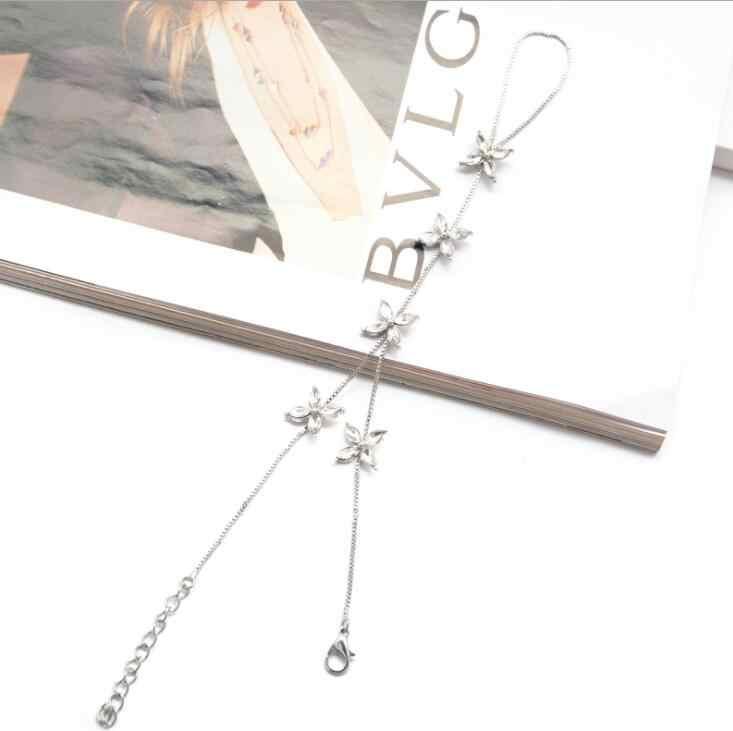 High Quality New Nice bracelets for women vintage silver color bracelet bohemian Luxury rhinestone flower midi finger jewelry