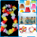 Free shipping 2sets of Hawaii Honolulu Hula Dance Toys Costumes Dressup Party Cosplay Supply Makeup Joke Funny Gifts