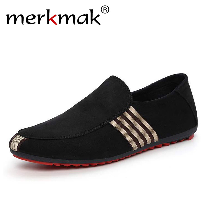 Merkmak New Spring Men   Suede   Loafers Summer Casual Driving Men's Shoes Fashion Comfortable Anti-skid Slip-On Lazy Footwear Flats